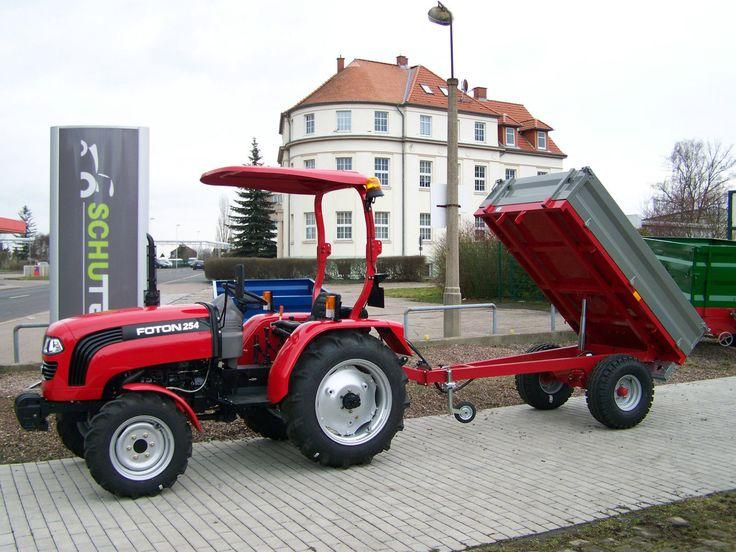 NEU! komplett 25 PS Allrad Traktor Schlepper FOTON TE254 + Kippanhänger HK1500 | eBay