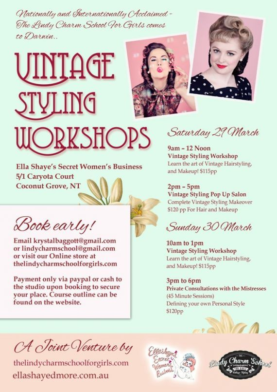 Darwin – Your Vintage Stylists are coming… The Lindy Charm School Misstresses of Style head North! — The Lindy Charm School For Girls