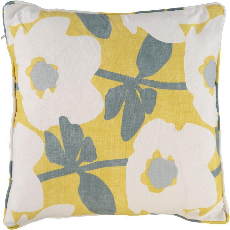 """Style Furnishings"" Mustard & White Floral Cushion 45x45cm - TK Maxx"