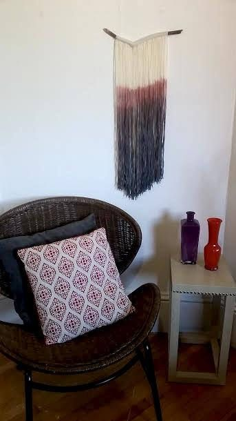 Hey, I found this really awesome Etsy listing at https://www.etsy.com/ca/listing/532167928/handmade-tapestry-fibre-art-dip-dye-wall