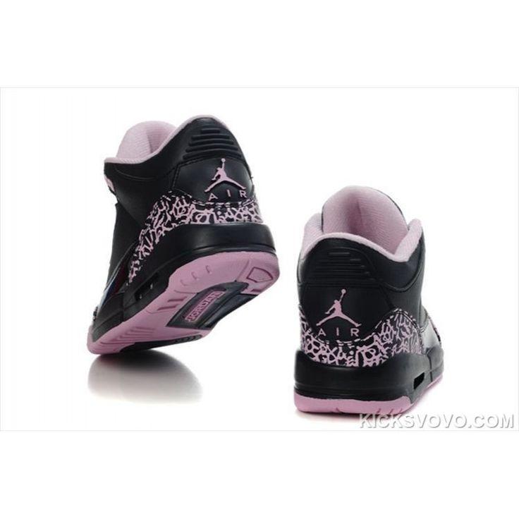 Women\u0027s Air Jordan 3 Air Sole Mid Black Pink