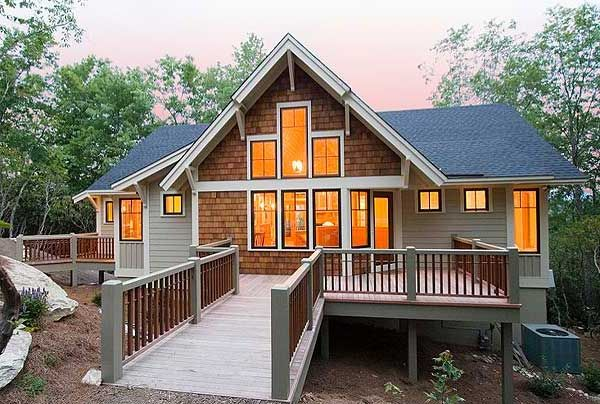 Popular mountain home plan - Mountain home plans with walkout basement ...