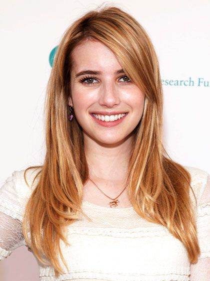 """ANGLED """"Emma Roberts's short, evenly blended layers are angled down so they become seamless,"""" Maciques says. """"It's the perfect long cut for fine hair, because it gives body and movement without looking straggly."""" A side part and jaw-length layers in front help shorten her oval face well, but the cut also flatters just about anyone.    ALLURE TIP: If your hair is fine, don't go more than two inches below the collarbone, and avoid too many layers so the ends don't get stringy."""