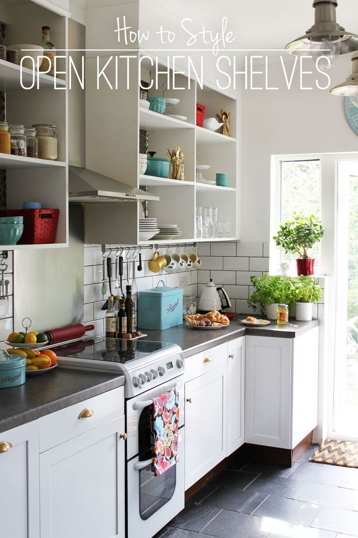 Open Kitchen Shelves!!! Yes! Makes you wanna keep them