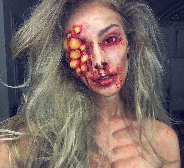 Les 25 meilleures id es de la cat gorie tuto maquillage halloween infirmiere zombie sur - Tuto maquillage zombie ...
