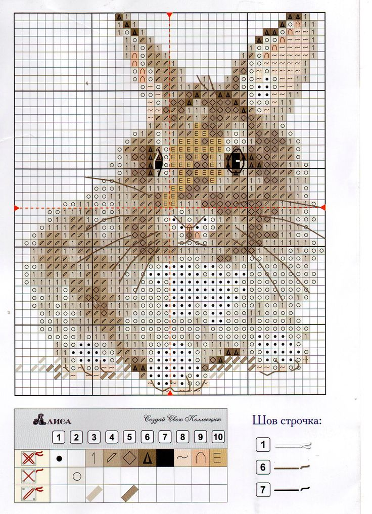 Cross-stitch bunny instructions