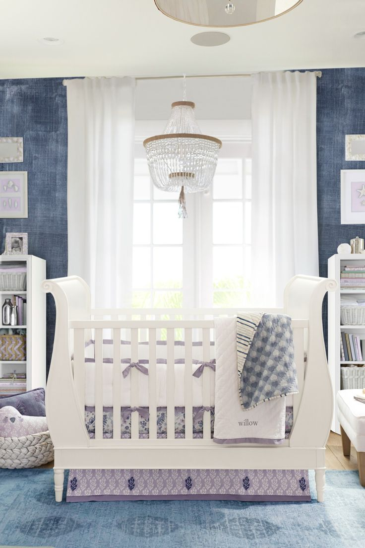 Baby cribs pottery barn - Purple Blue Nursery