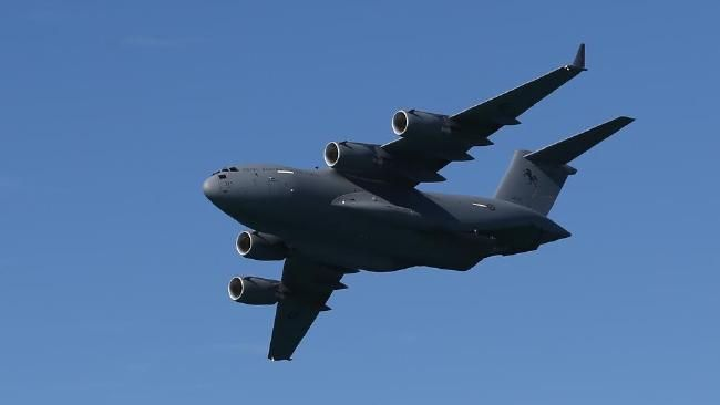 Two C-17A Royal Australian Air Force Globemasters to soar over the Gold and Tweed coasts.