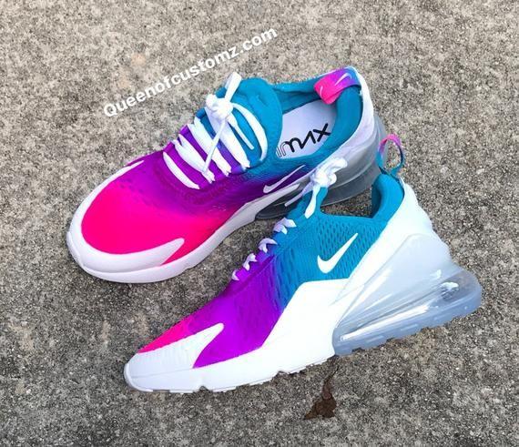 Summer Color Fusion Nike Air Max 270 Custom White Nike Air ...