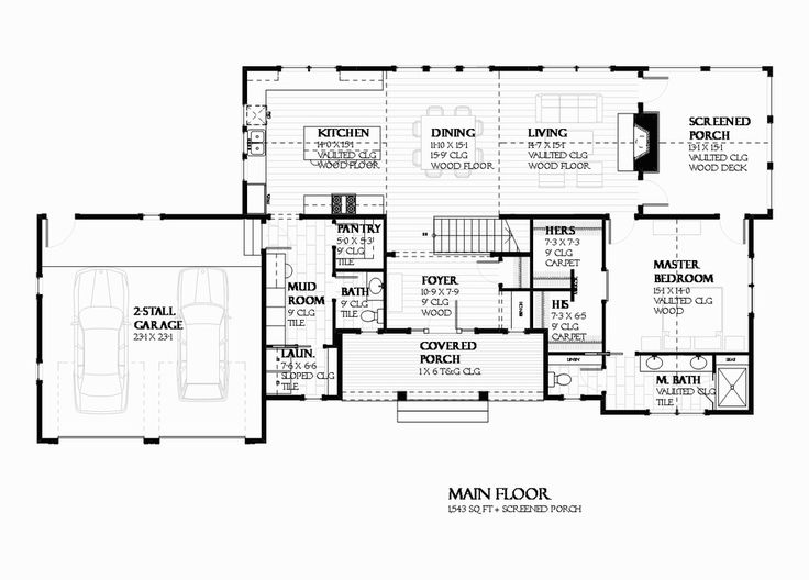 Ranch Style House Plan - 3 Beds 2.5 Baths 2679 Sq/Ft Plan #901-128 Floor Plan - Main Floor Plan - Houseplans.com