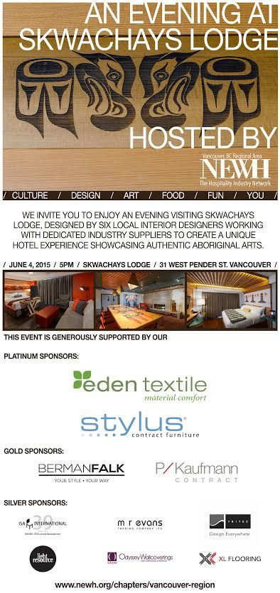 A evening experiencing the beautiful design and unique aboriginal art @SkwachaysLodge!  @NEWHinc