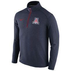 Men's Nike Navy Arizona Wildcats Coaches Sideline Half-Zip Tri-Blend Performance Knit Top