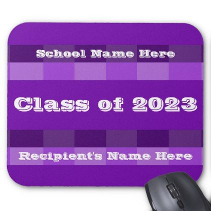 Class of 2023 Purple Band Mousepad by Janz - graduation gifts giftideas idea party celebration