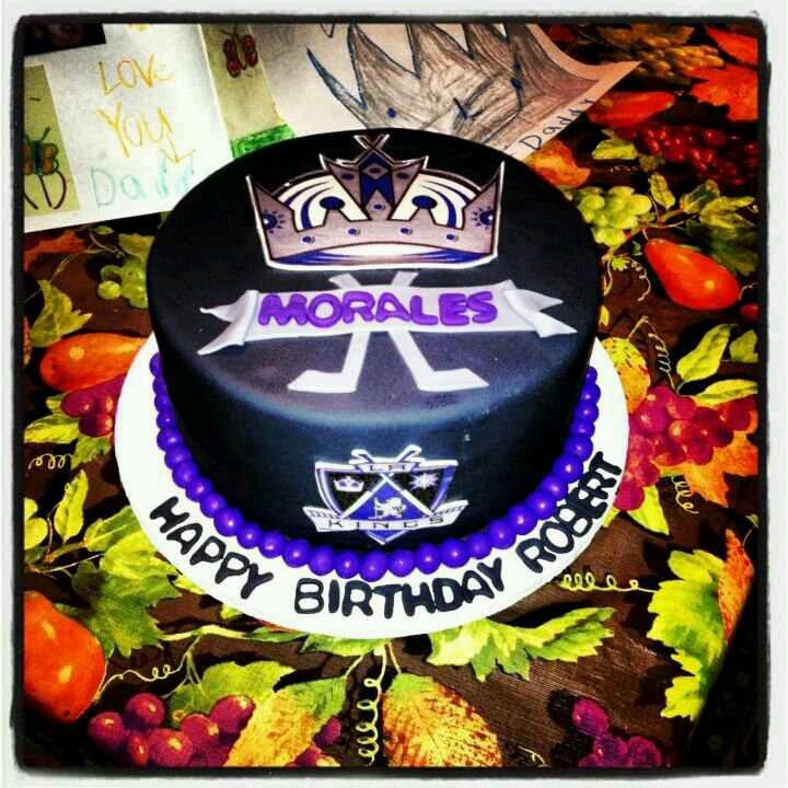 Los Angeles Kings Cake....this Cake Was Perfect