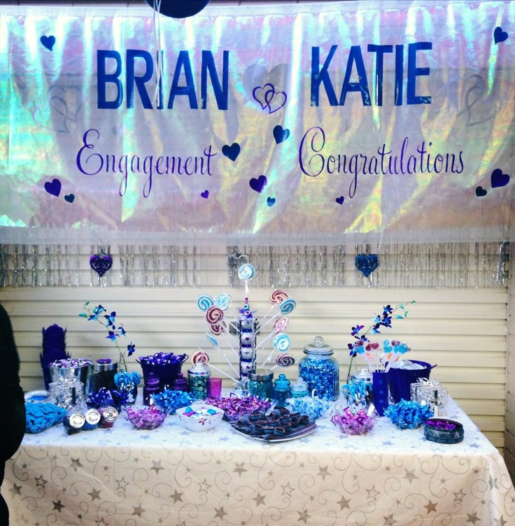 The awesome Blue, Silver & Purple engagement theme Lolly Buffet Engagement Party: Colour Scheme  Blue Silver Purple
