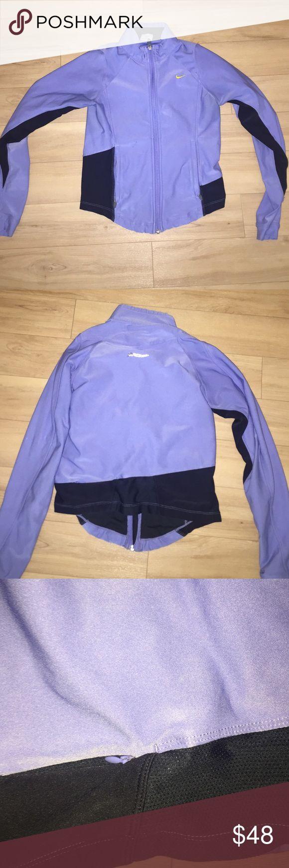 Nike dryfit running jacket Lavender blue Nike running jacket Nike Jackets & Coats