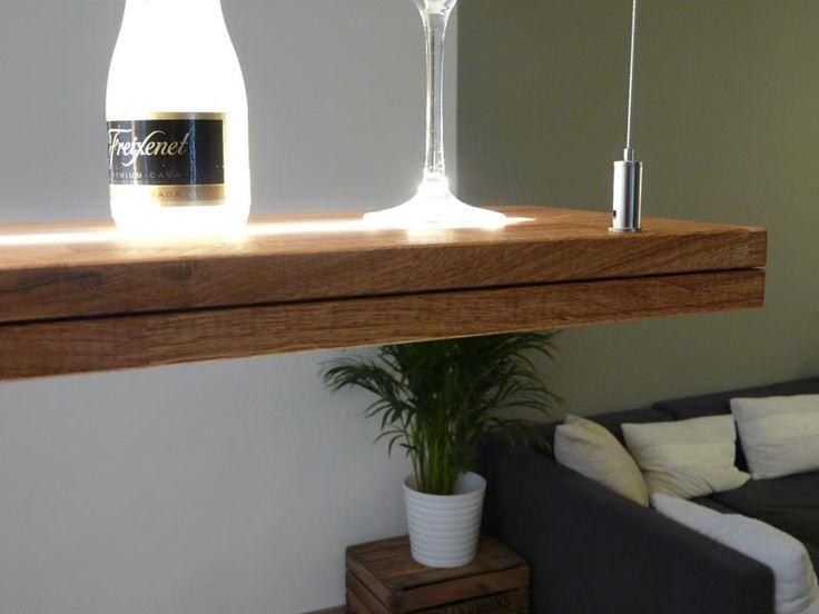 Popular H ngelampe Holz Eiche ge lt mit Ober und Unterlicht