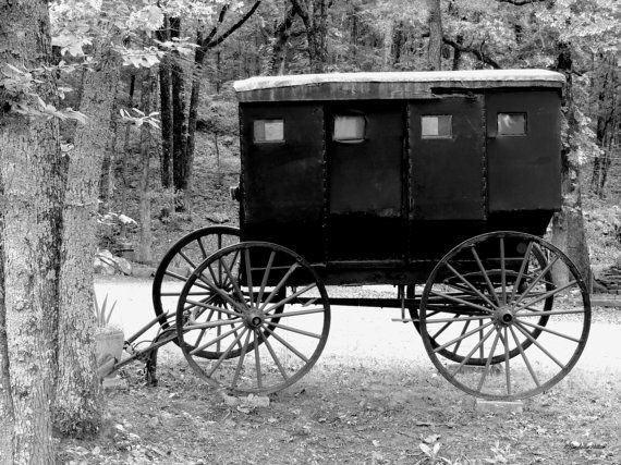 Old Wagon Western Decor Rustic Decor Black & White by hershellias