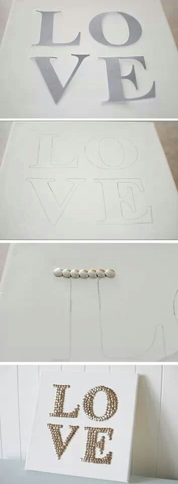Use push pins to make an at piece