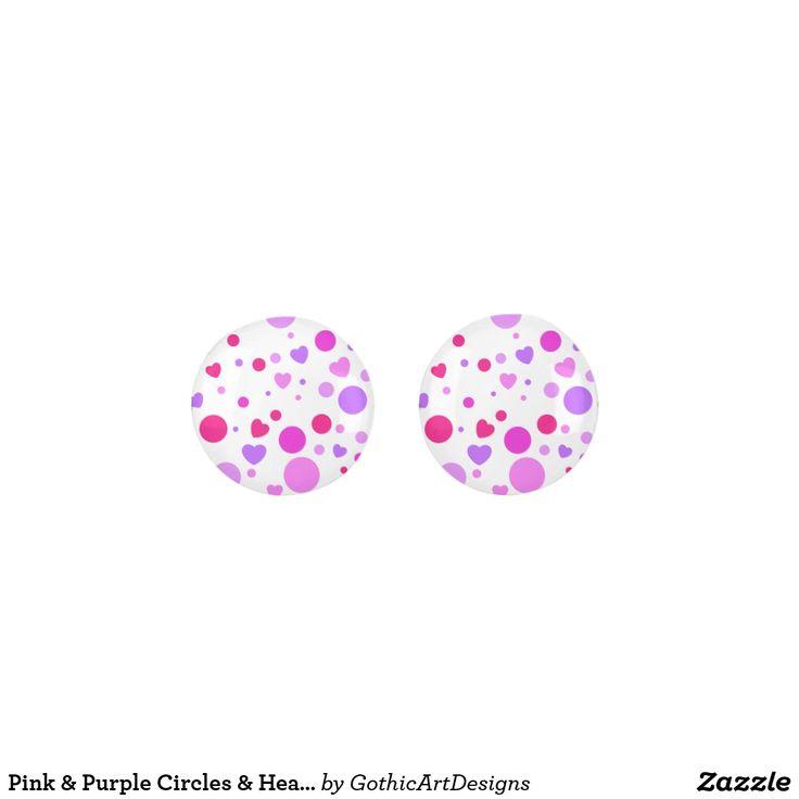 Pink & Purple Circles & Hearts Pattern