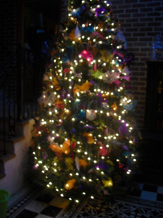 kleurige kerstboom