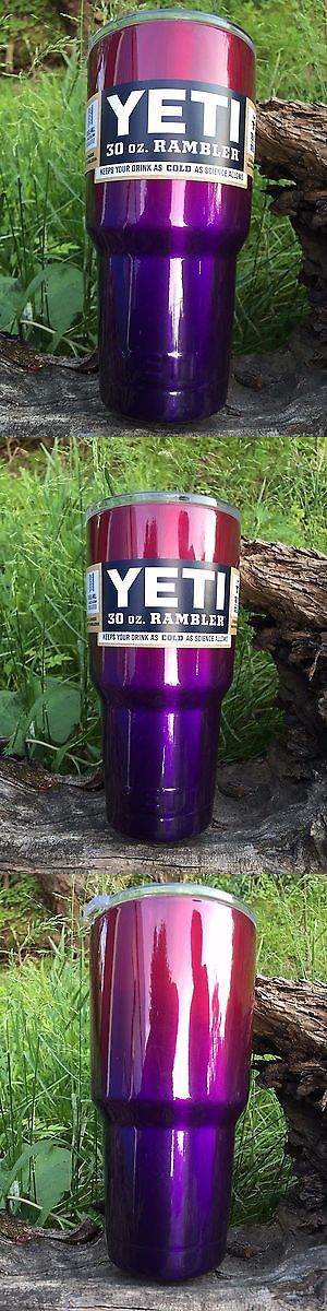 Other Camping Cooking Supplies 16036: Real Yeti 30 Oz. Insulated Tumbler Candy Raspberry Purple Custom Powder Coated -> BUY IT NOW ONLY: $60 on eBay!