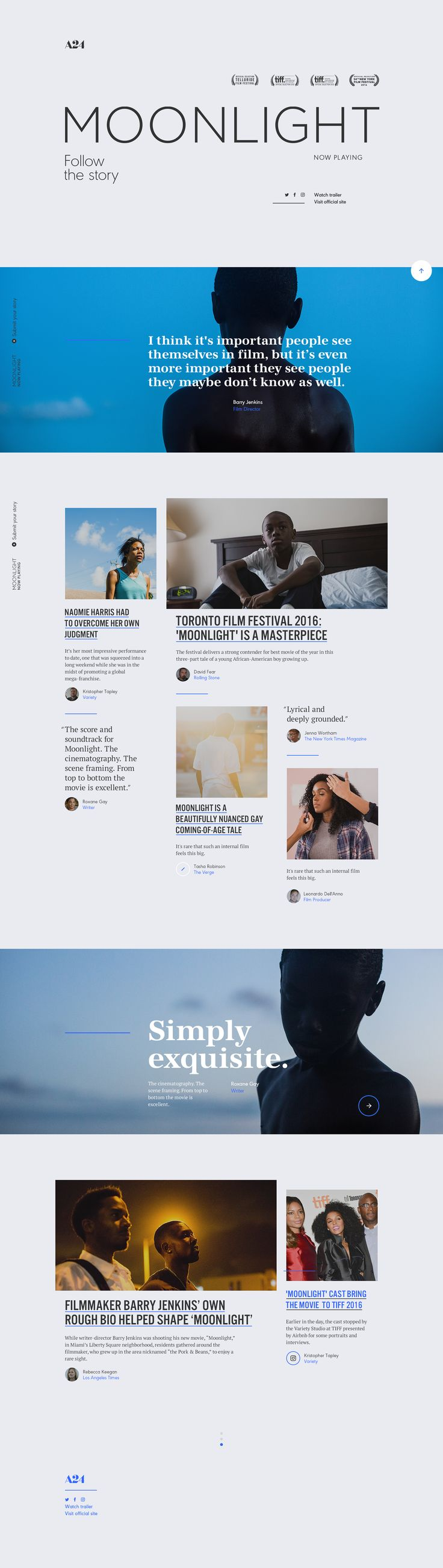 Interaction Design: Moonlight Official Site
