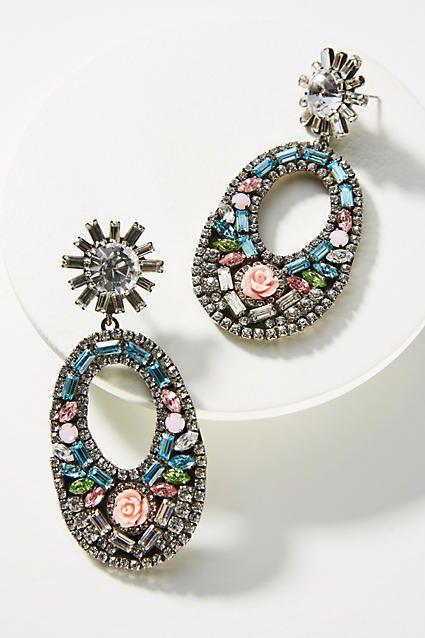 1fbde8d00e25 Anthropologie Glass Mosaic Drop Earrings