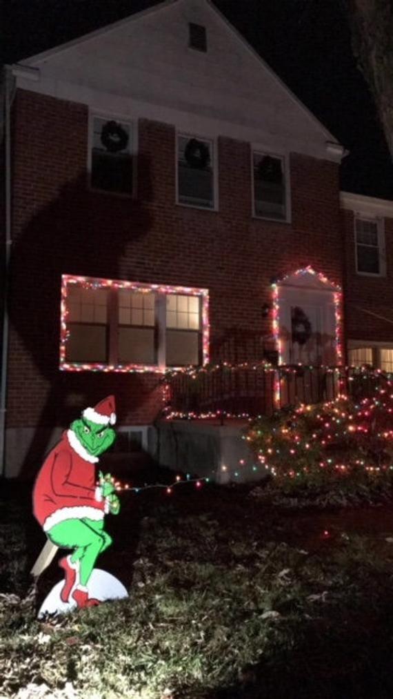 Grinch Christmas Decoration Etsy Navidad