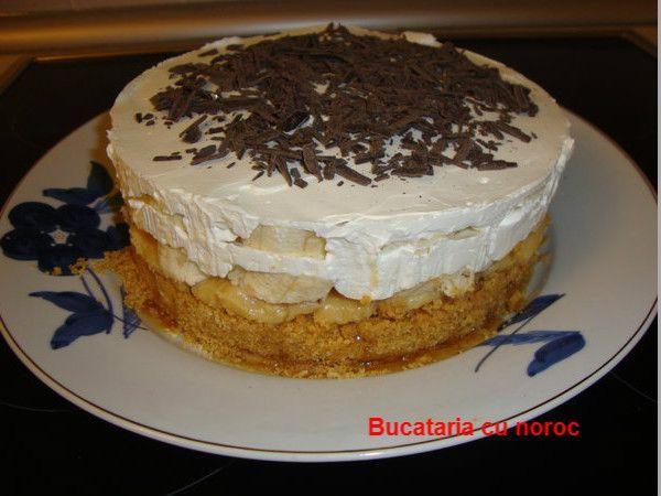 Bucataria cu noroc - Tort Banoffee, tort cu banane si biscuiti