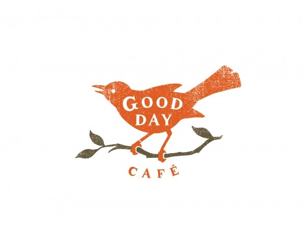 Good day cafe. Love the simple design and colour palette, and great name. I want to go there just from seeing this!