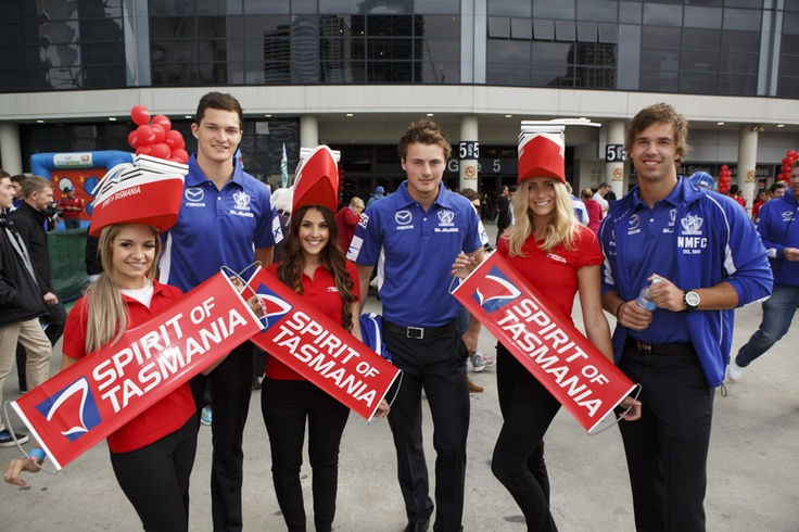 North Melbourne players outside Etihad stadium before the big game.