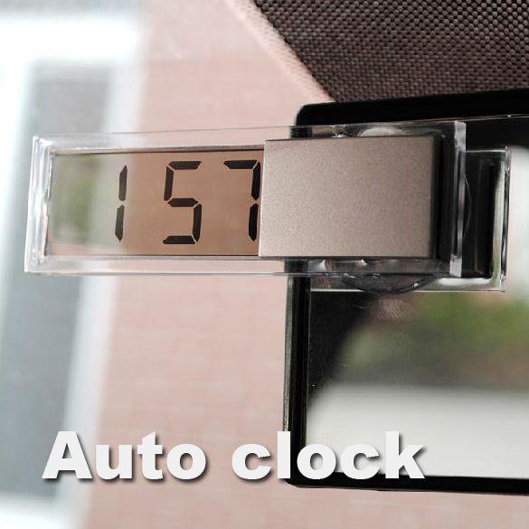 Tahan lama Digital LCD Display Mobil ElectronicTransparent Jam Dengan Sucker Keren Gratis pengiriman