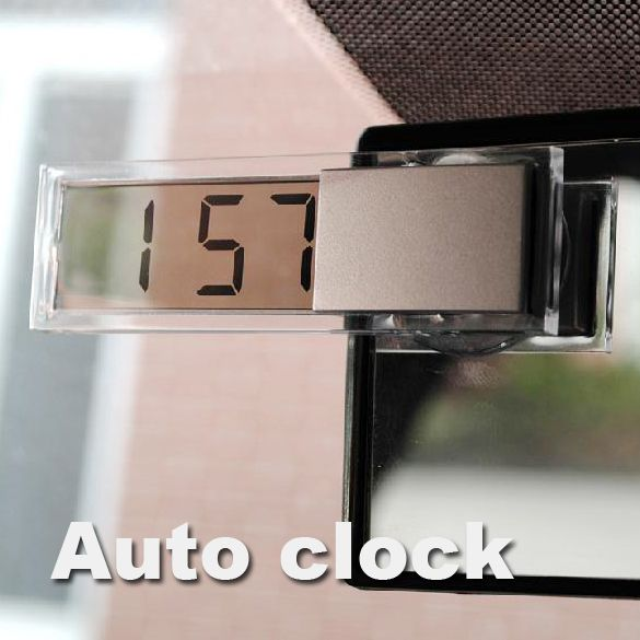 Durable Display LCD Digital de Coches Reloj ElectronicTransparent Con el Lechón Enfriar Envío gratis