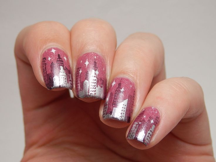 Picture Polish New York  stamping plate: Bundle Monster BM-414 and Nailz Craze NC02