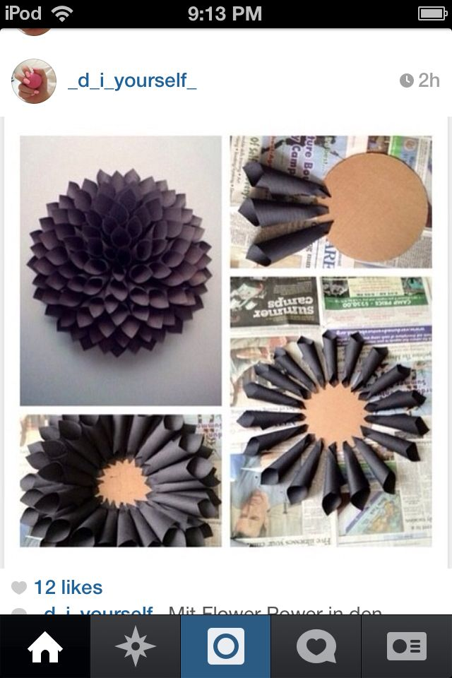 3D flower soo cool you could also change the color or maybe even have the colors color oriented like a rainbow or even OMBRÉ