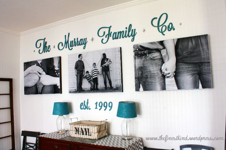 thefinestkind.wor... Adorable Family Room Wall #largephotos #home #decor