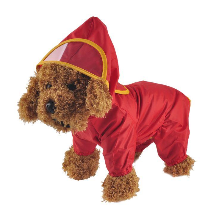 Pet Dog Hoody Jacket Rain Coat New Pets Dogs Solid Raincoat Clothes Slicker Jumpsuit Chubasqueros Para Perros Poncho Ropa Perro //Price: $15.91 & FREE Shipping //     #cat #dog  #kitten #petworld #puppy #animal