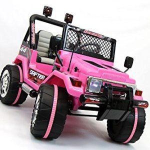 2016 Pink Jeep Wrangler Kids Jeep Ride on Toy with Remote