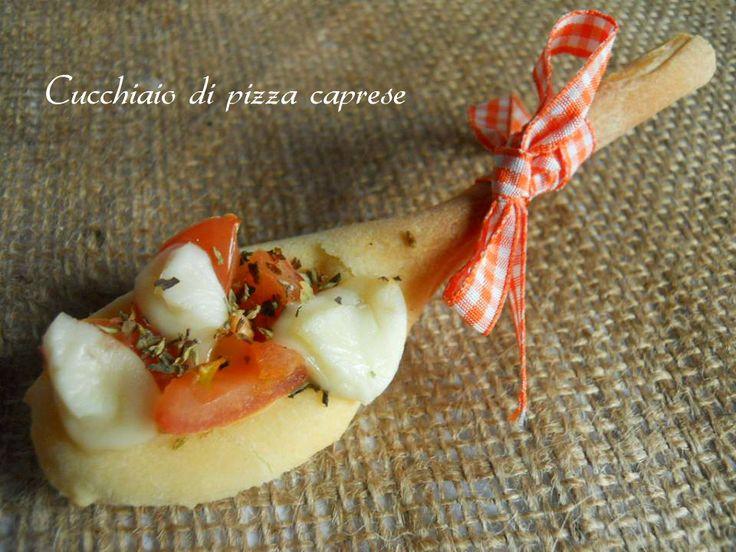 cucchiaio di pizza caprese