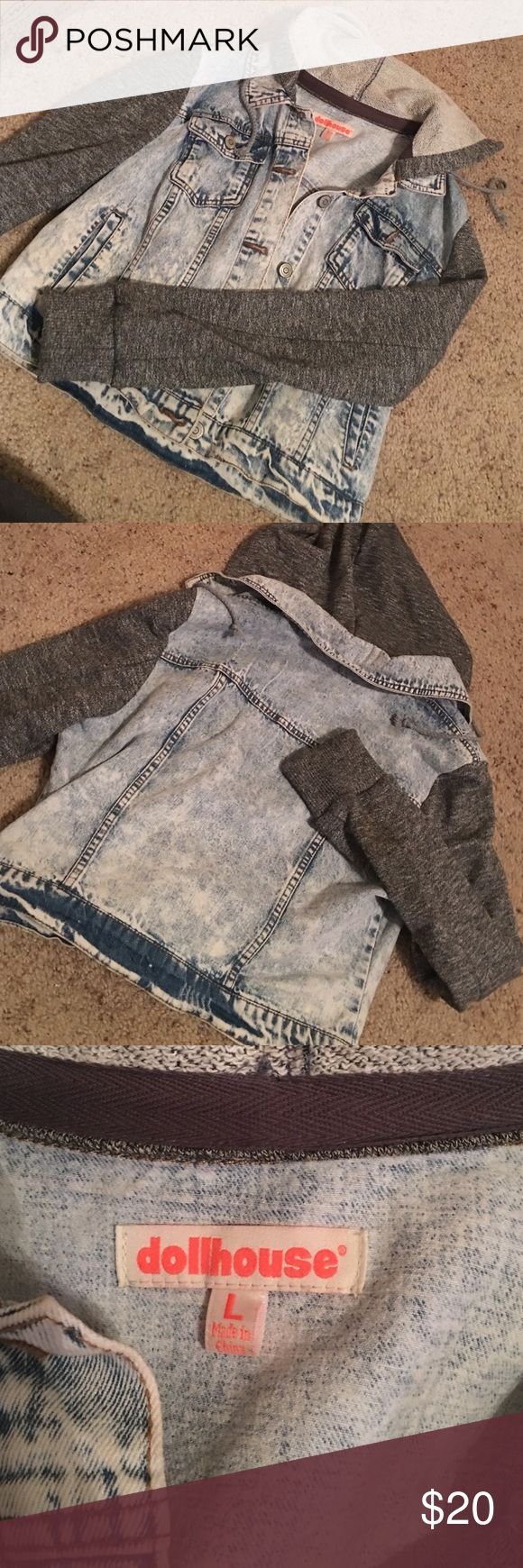 Hoodie Jean Jacket Bought This At Charlotte Russe, Worn Twice. Charlotte Russe Jackets & Coats Jean Jackets