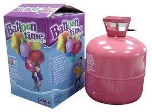 P'TIT CLOWN 30310 Bouteille d'Hélium Jetable – 0,42 m3 – 50 Ballons – Multicolore
