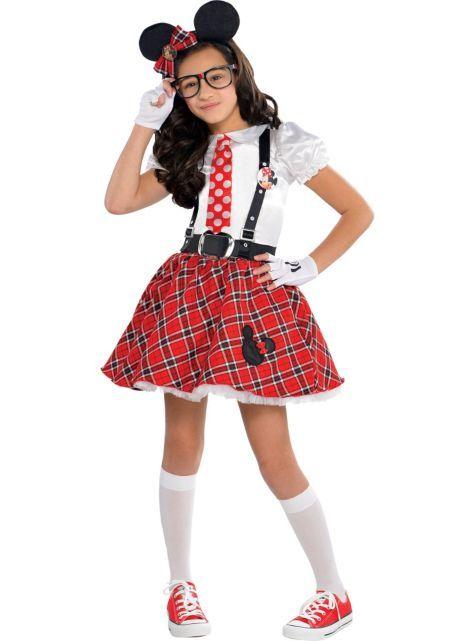 Girls Minnie Mouse Nerd Costume