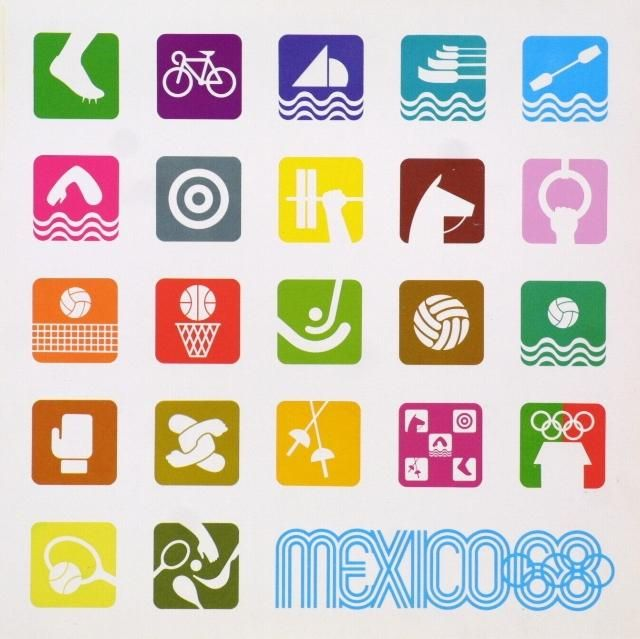 Lance Wyman's logos for Mexico '68 Olympic Games