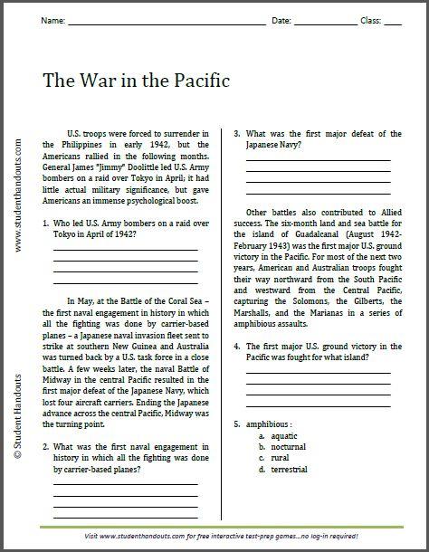 Us history printable worksheets high school