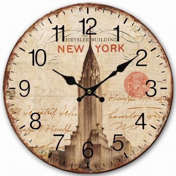 Купить товарРетро винтажный стиль большие часы нью йорк крайслер билдинг дом декоративные настенные часы дерево 34 см в категории Настенные часына AliExpress.      100% новый      Материал: качество МДФ, дерево  Размер: диаметр = 34 см примерно  Количество: 1 настенные час