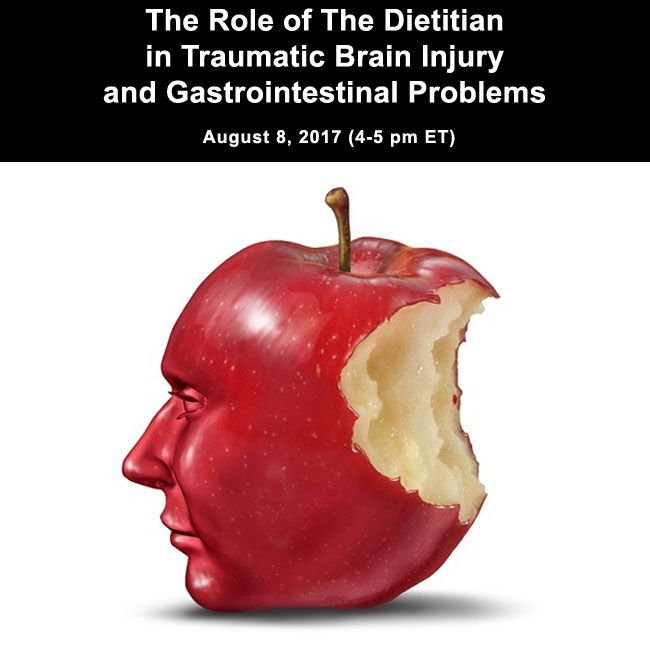 The purpose of this webinar is to provide an overview on types of TBI (Traumatic Brain Injury), symptoms of TBI and its effects on the GI system. The role of the Registered Dietitian Nutritionist (RDN) in managing patients with TBI and GI problems will be discussed along with some practice case studies.