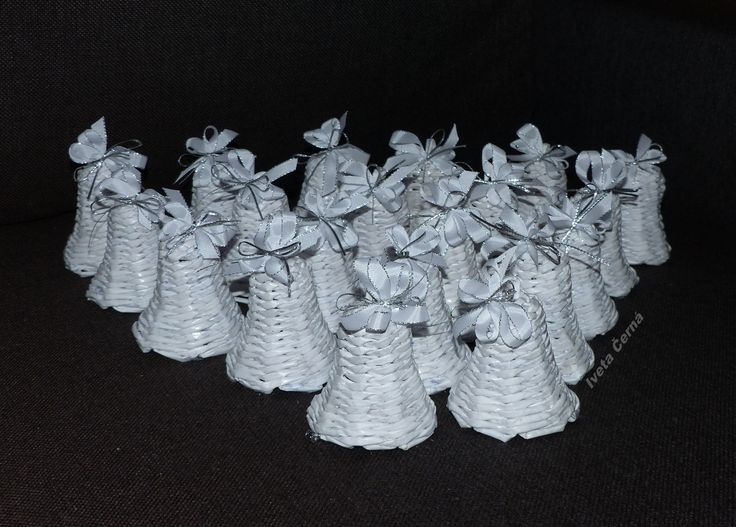 zvonečky...pletení z papíru