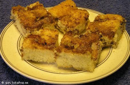 Recept se nästa pin - Äppelkaka i långpanna