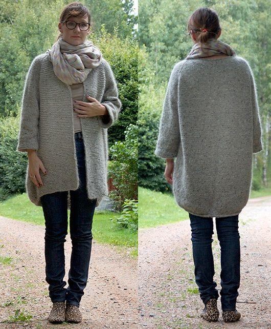 Осеннее вязаное пальто | ДОМОСЕДКА